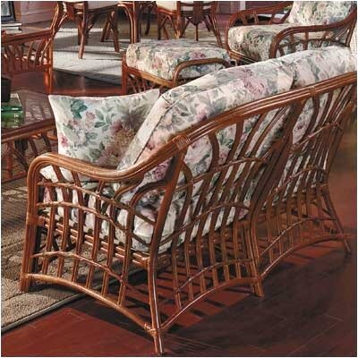 South Sea Rattan New Kauai Loveseat with Cushions