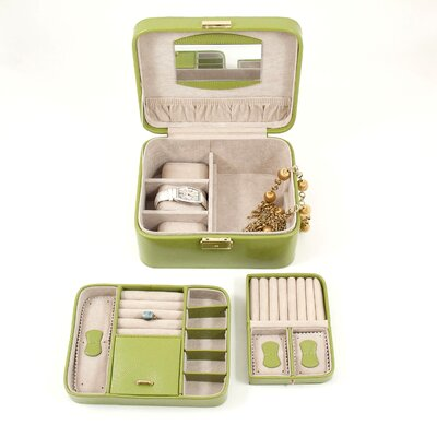 Bey-Berk Jewelry / Watch Case in Lime Leather
