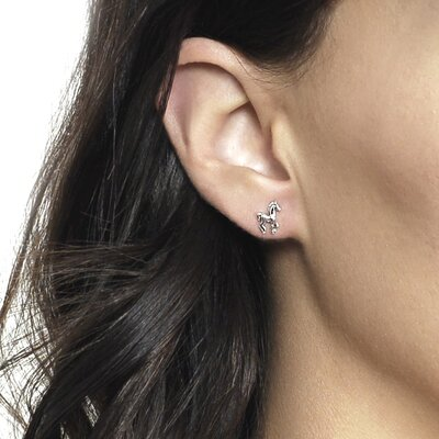 Tressa Collection Prancing Horse Stud Earrings
