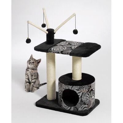 Midwest Homes For Pets Feline Nuvo Carnival Cat Furniture in Black
