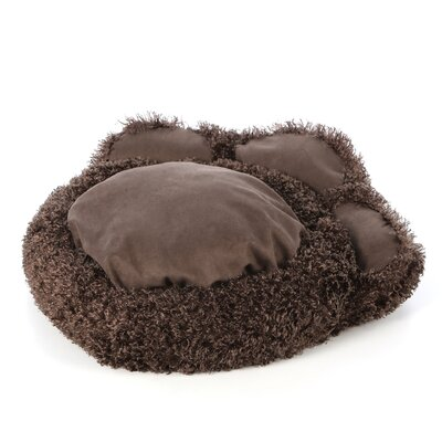 Quiet Time Boutique Paw Dog Bed with Comfy Bolster and Faux Suede Paw Pads in ...