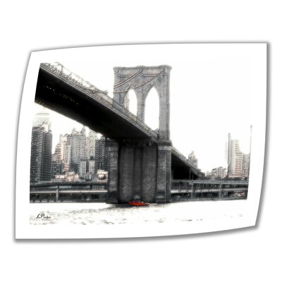 Art Wall Linda Parker 'NYC Brooklyn Bridge' Unwrapped Canvas Wall Art
