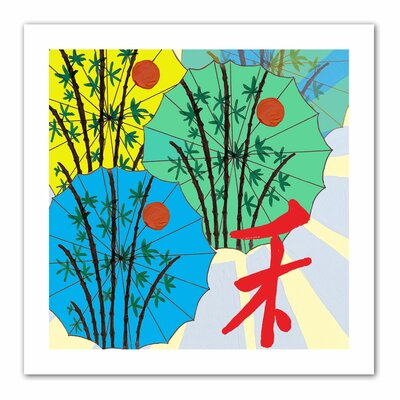 Jan Weiss 'Parasol Parade' Unwrapped Canvas Wall Art