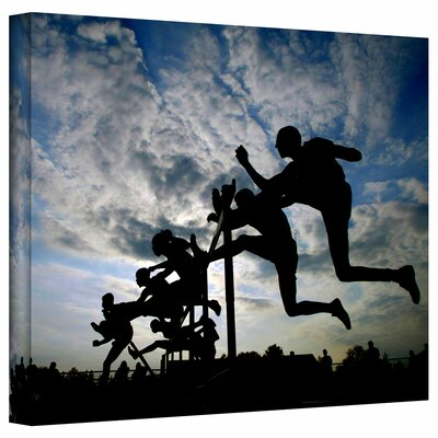 David Liam Kyle 'Hurdler Silhouette' Gallery-Wrapped Canvas Wall Art