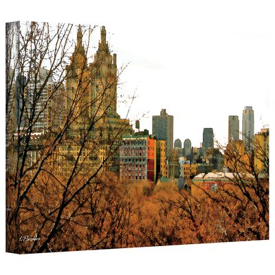 Linda Parker 'Urban Autumn, NYC' Gallery-Wrapped Canvas Wall Art
