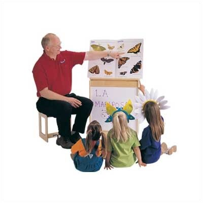 Jonti-Craft ThriftyKYDZ Big Book Easel - Write-n-Wipe
