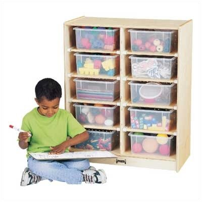 Jonti-Craft 10 Tub Single Cubbie Unit