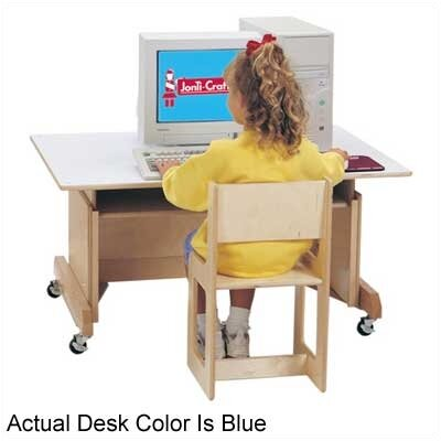 "Jonti-Craft 42"" W Computer Table - Blue"