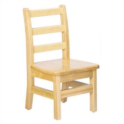 Jonti-Craft KYDZ 10&quot; Wood Classroom Ladderback Chair (Set of 2)