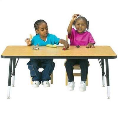 Jonti-Craft KYDZ Toddler Height Activity Table- Rectangular (30&quot; x 60&quot;)