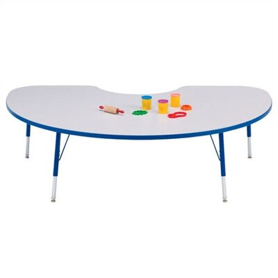 Jonti-Craft Rainbow Accents KYDZ Toddler Height Activity Table- Kidney (48&quot; x 72&quot;)