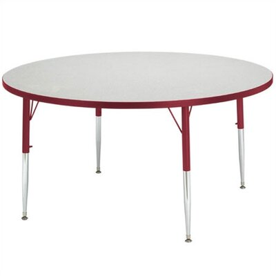 "Jonti-Craft Rainbow Accents KYDZ Toddler Height Activity Table- Round (48"" diameter)"