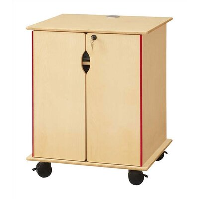 "Jonti-Craft KYDZ Lockable Presentation Cart - Rectangular (24"" x 23"")"