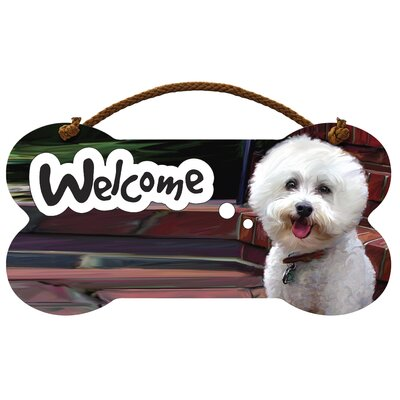 Little Gifts Bichon Frise Welcome Wall Sign