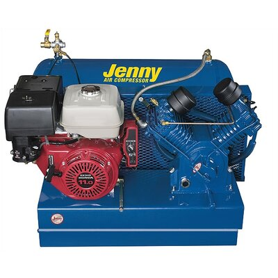 Jenny Products Inc 30 Gallon 18 Horse Power Gas Two Stage Special Portable Air Compressors