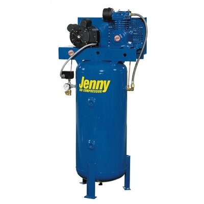 Jenny Products Inc 60 Gallon 5 HP Single Stage Electric Stationary Air Compressor