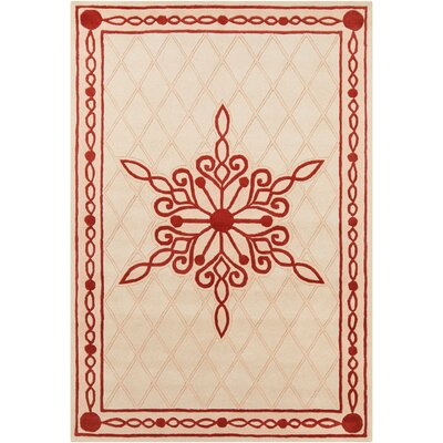 Filament Cinzia Cream/Red Abstract Rug