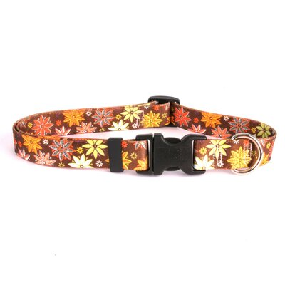 Yellow Dog Design Autumn Flowers Standard Collar