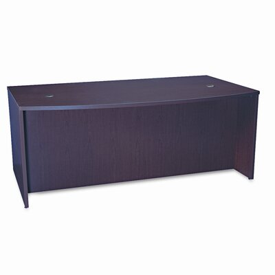 HON Basyx Bl Laminate Series Bow Front Desk Shell