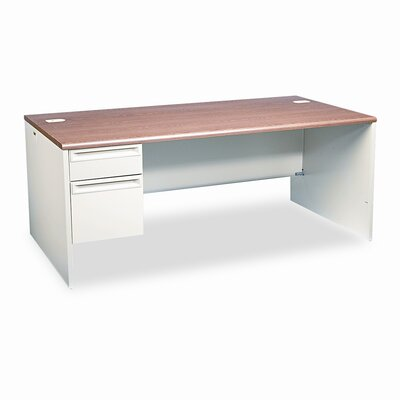 "HON 38000 Series Computer Desk with 0.75"" H Right Pedestal L-Workstation"