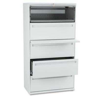 "HON 700 Series 36"" W Five-Drawer Lateral File"
