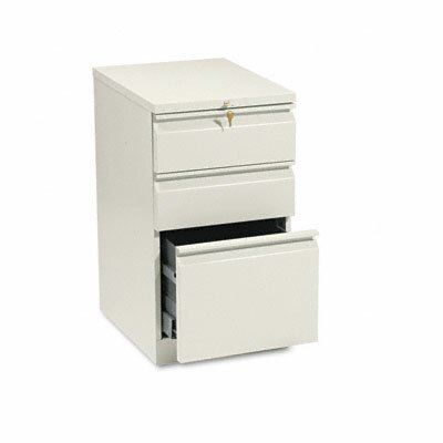 HON Efficiencies Mobile Pedestal File with One File/Two Box Drawers, 19-7/8D