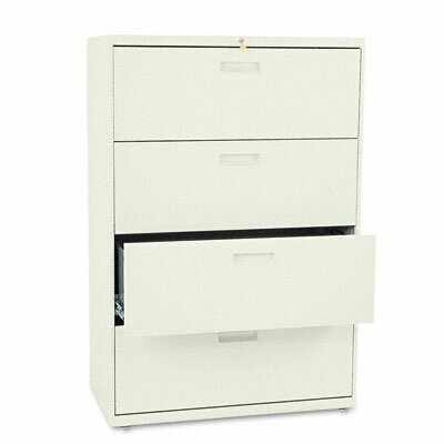 HON 500 Series Four-Drawer Lateral File, 36W X53-1/4H X19-1/4D