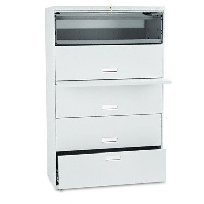 HON 600 Series Lateral File w/ 5 Drawers, 42w, Lt. Gray