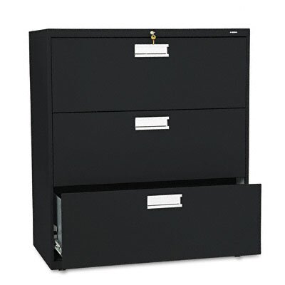 "HON 600 Series 36"" W Three-Drawer Lateral File"