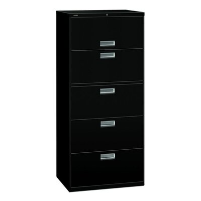"HON 600 Series 30"" W Five-Drawer Lateral File with Posting Shelf"