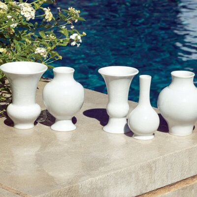 Mini Chinoise Vases in White (Set of 5)