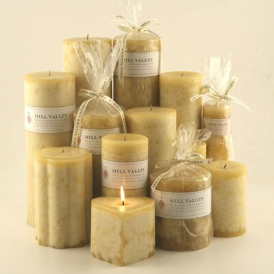 Mill Valley Candleworks Polynesian Vanilla Scented Pillar Candle