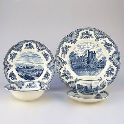 Old Britain Castles Blue 20 Piece Dinnerware Set