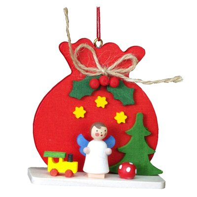 Alexander Taron Christian Ulbricht Red Sack with Angel Ornament