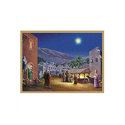 Alexander Taron Manger Scene with Bible Verses Advent Calendar
