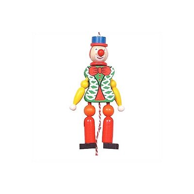 Alexander Taron Wooden Green Clown Jumping Jack Toy