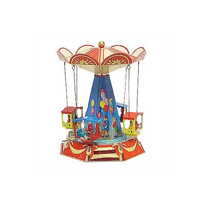 Alexander Taron Tin Lever Wind Old Time Basket Seat Carousel