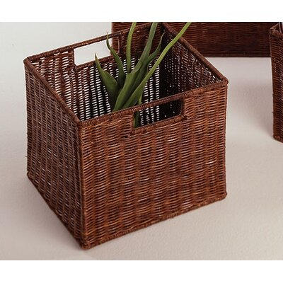 Winsome Set of 3 Walnut Storage Baskets