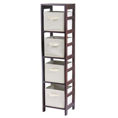 Capri Storage Shelf with 4 Foldable Baskets