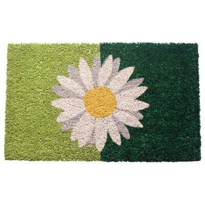 Entryways Sweet Home Green Daisy Doormat