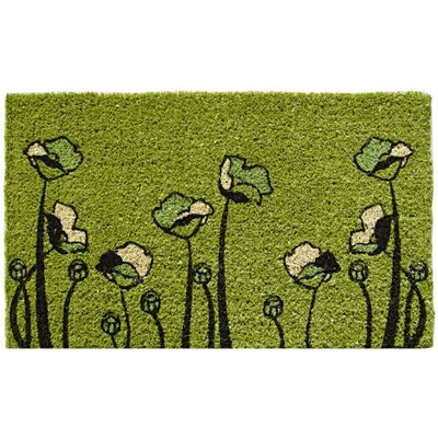 Entryways Mid Thickness Coir Two-Lips Coconut Fiber Doormat