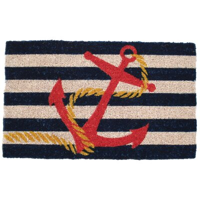 Entryways Mid Thickness Coir Anchor Doormat