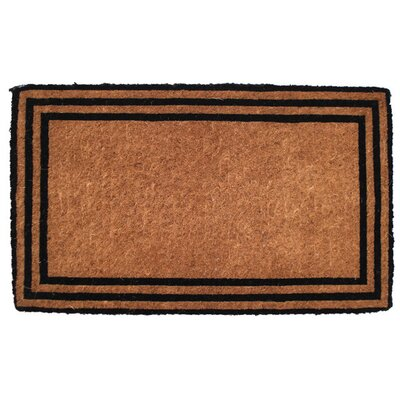 Entryways Extra Thickness Coir the One with the Border Doormat