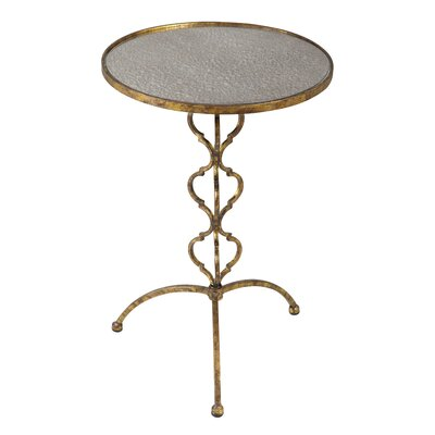 Petite Alana Antique Mirrored Glass Table