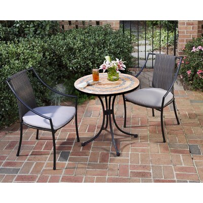 Home Styles Terra Cotta 3 Piece Dining Set with Cushions