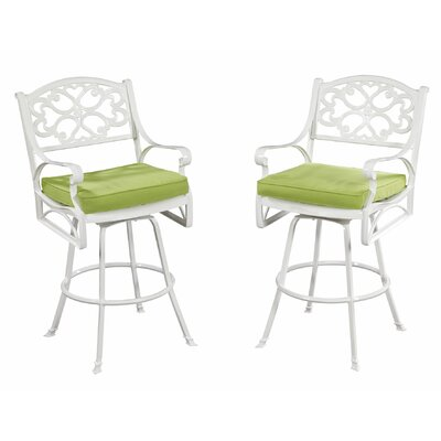 Home Styles Biscayne Bistro Stool with Cushion
