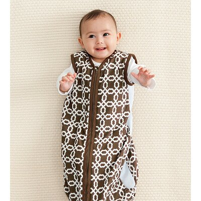Skip Hop Lattice Airflow Wearable Blanket in Chocolate
