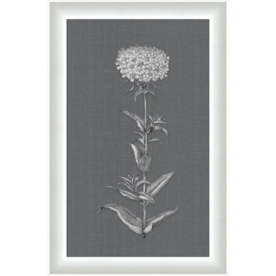 White Flora on Gray Linen I Wall Art