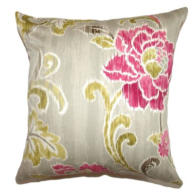 Jacobina Floral Cotton Pillow
