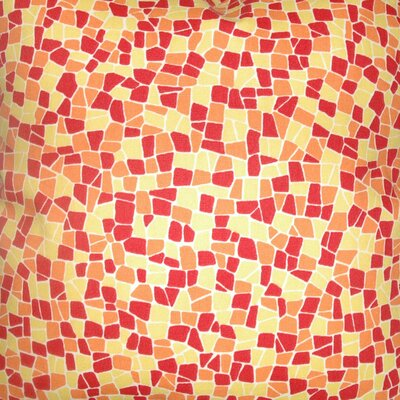 The Pillow Collection Bentlee Mosaic Tile Cotton Pillow